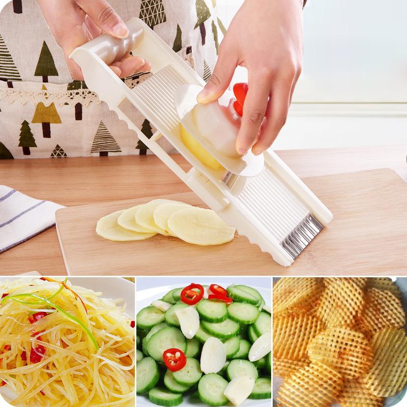优思居 家用厨房擦土豆丝切丝器 多功能切菜器切土豆片切片刨丝器