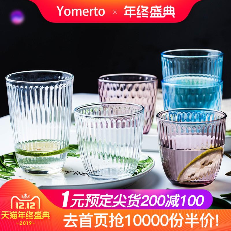 意大利进口水杯网红玻璃杯ins可爱水晶杯子耐热家用喝水透明杯具