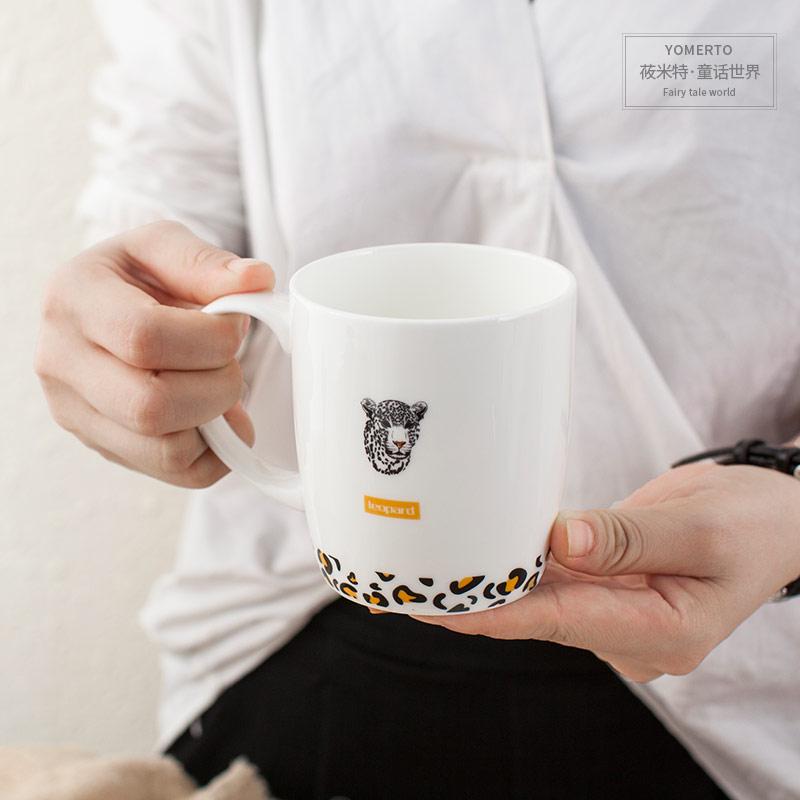 陶瓷 咖啡杯可愛情侶杯對杯 喝水杯子骨瓷大容量牛奶杯簡約