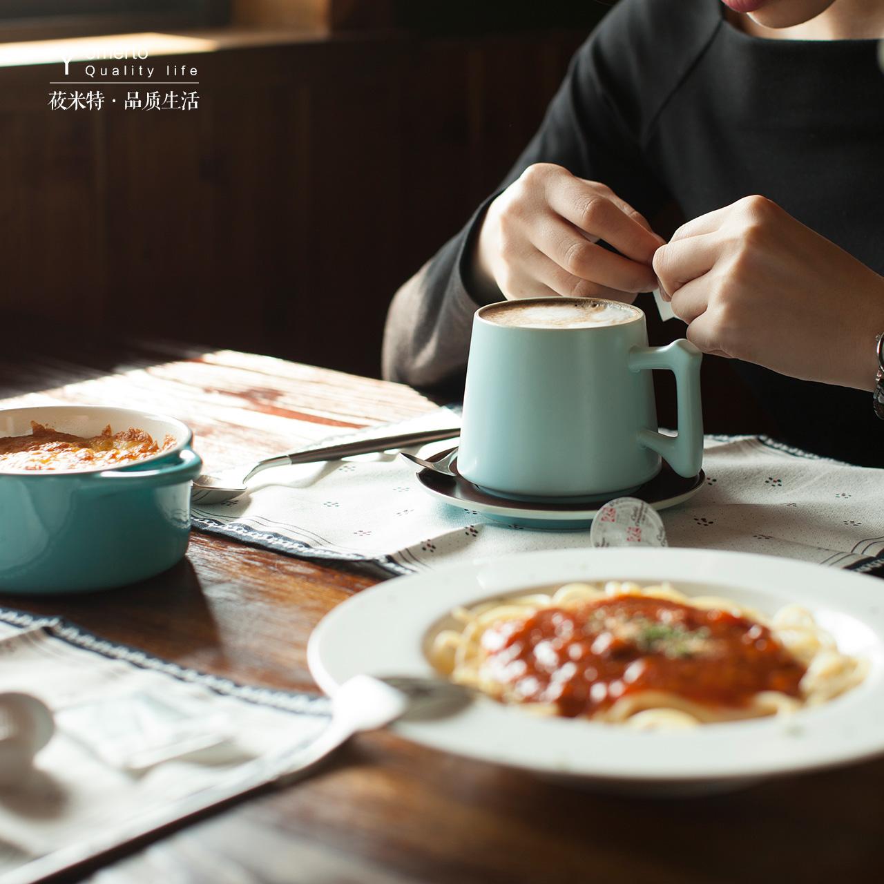 咖啡杯碟套裝歐式高檔陶瓷杯子情侶 簡約水杯茶杯牛奶杯馬克杯