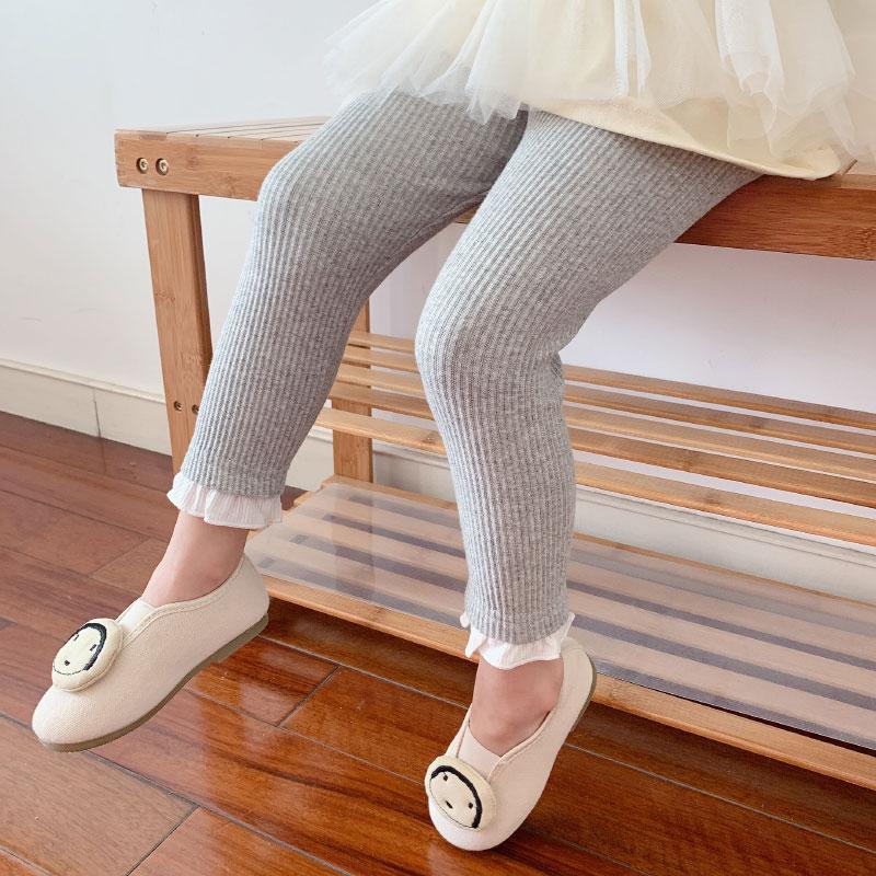 女童秋装小童婴儿裤子儿童女婴一宝宝打底裤春秋薄款纯棉外穿两岁