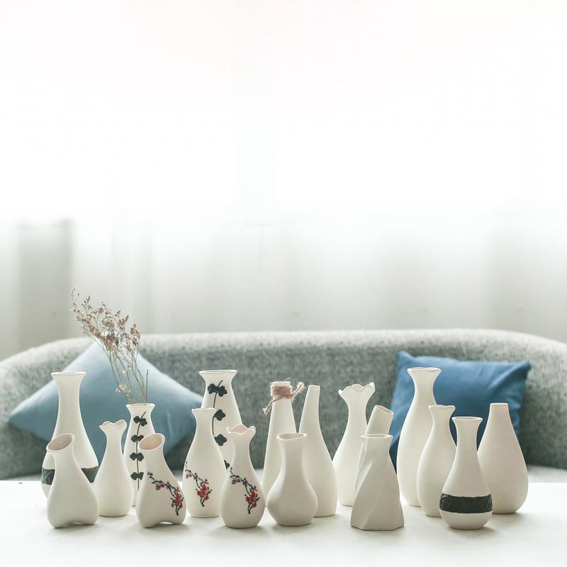 日式雪花釉小清新创意简约陶瓷花瓶