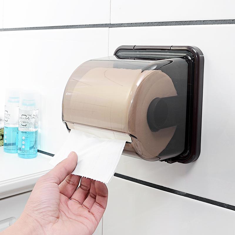 卫生间厕所纸巾盒免打孔创意卷纸架吸盘壁挂式纸筒厕纸盒家用防水假一赔三