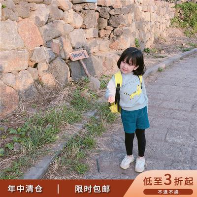 mini旦童装新款洋气秋装婴幼儿童卫衣男女童宝宝全棉圆领套头上衣
