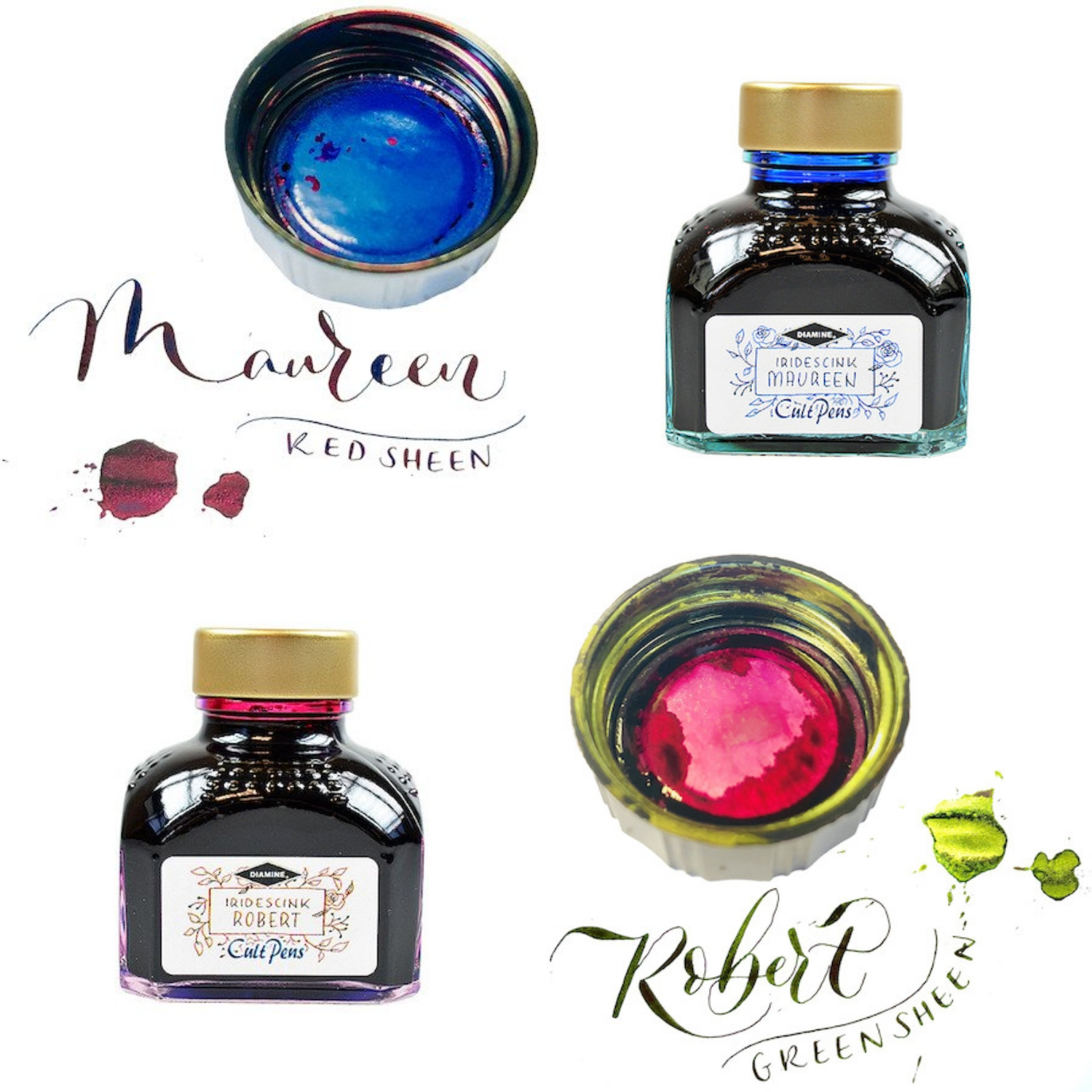 Diamine戴阿米墨水商店限定Iridescink超sheen墨水robert maureen