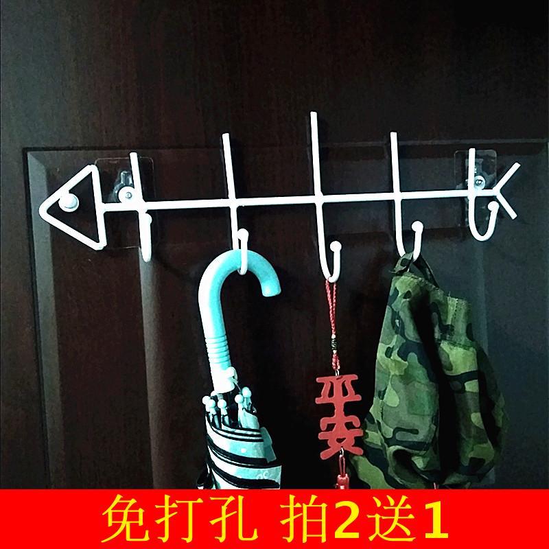 创意门后挂钩挂衣架静音玻璃免钉厨房墙上壁挂钥匙试衣间衣帽挂钩