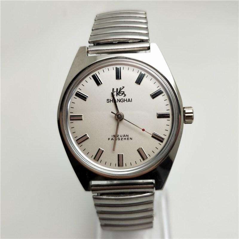 老款二手上海中老年怀旧手表上发条 7120机械表古董上弦男表 剧组