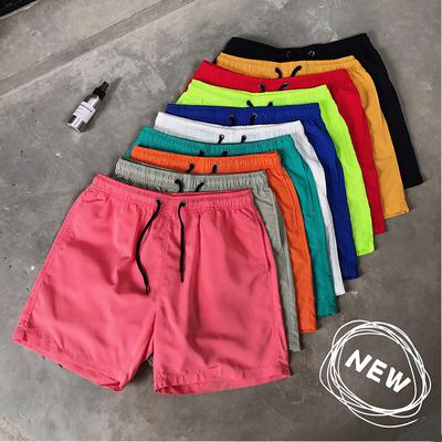 19夏季平铺短裤糖果色五分裤男十色速干沙滩裤已质检504-k02-P15