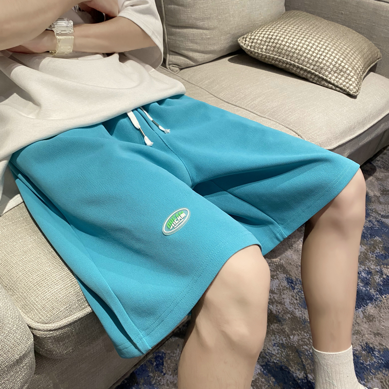21夏季港风新款贴标卫裤短裤中性风五分裤男沙滩裤504-K3008-P30
