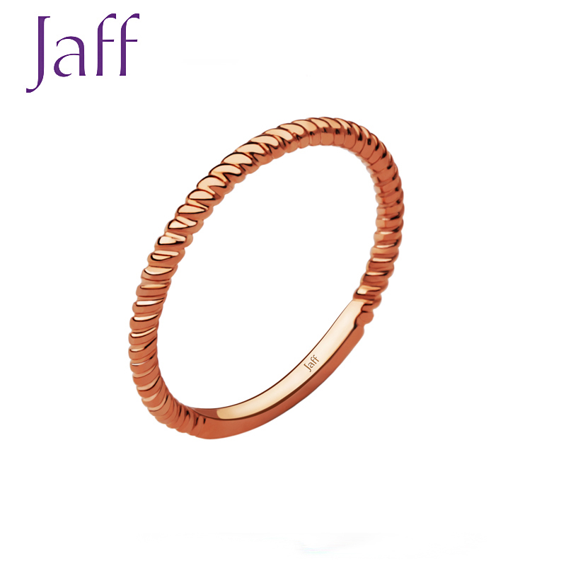 Red 18K gold ring Jixing series jxxl042-2 (finger ring size is subject to real-time stock)
