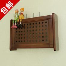 新款 实木烤漆路由器遮挡箱墙上电表箱收纳盒壁挂式 包邮 wifi收纳箱