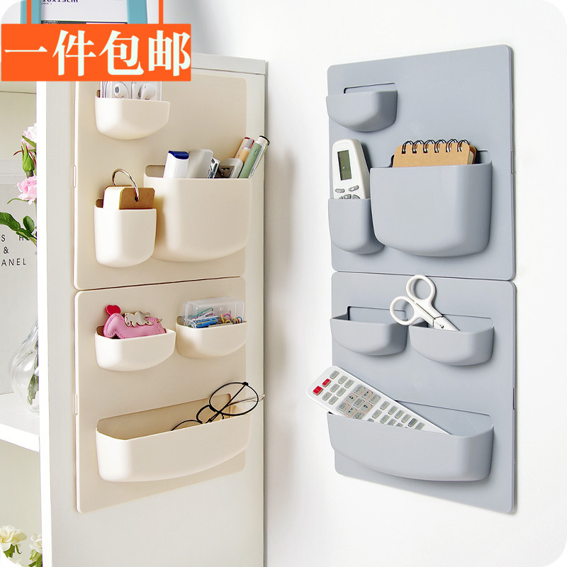 Household paste wall shelf, kitchen, bathroom, wall storage shelf, storage box, perforated free, wall mounted toothbrush rack