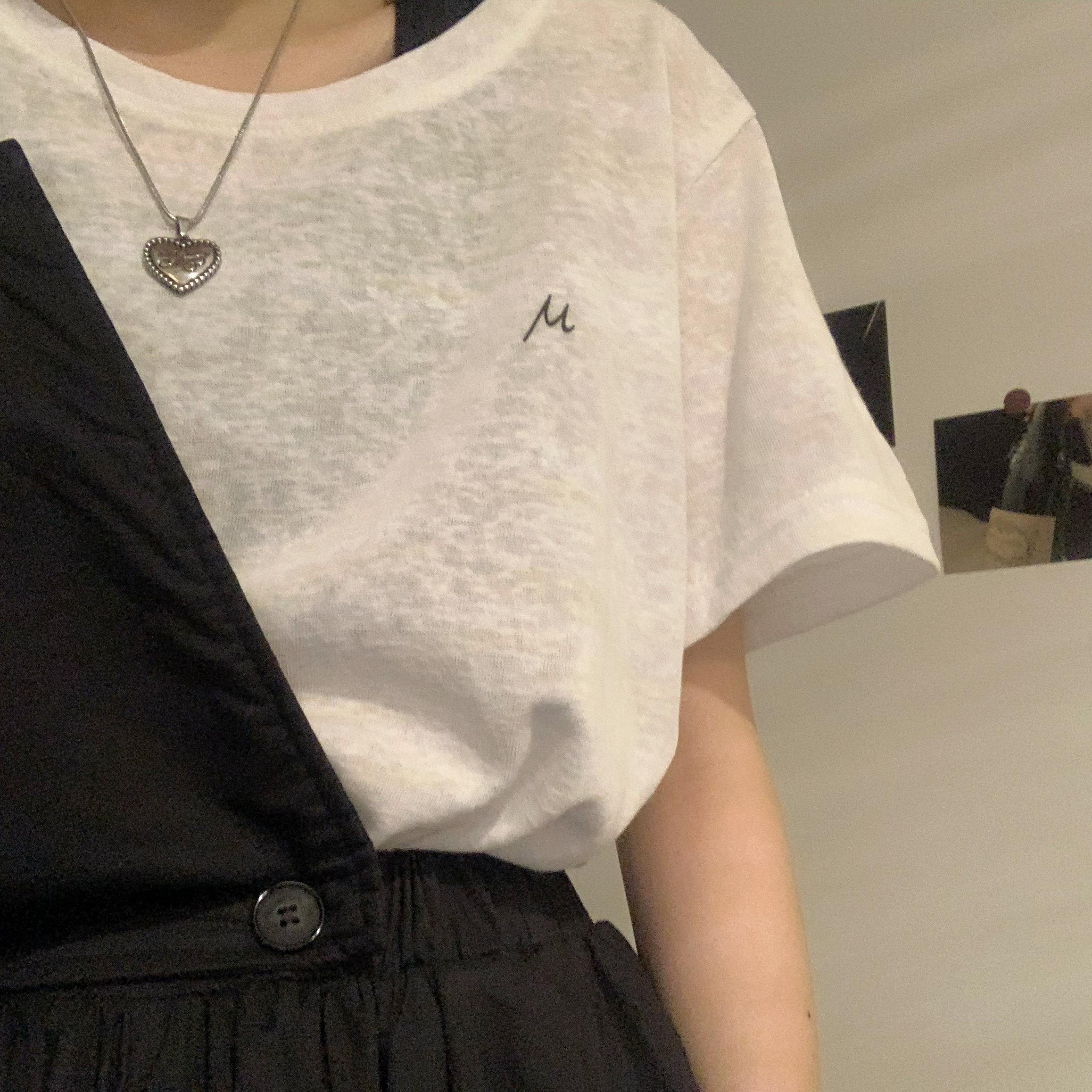 蘑菇MG小象 女装旗舰家夏季2020新款韩版宽松薄款内搭短袖T恤ins
