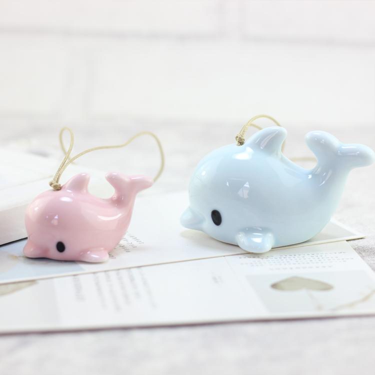 """"""" дельфин кулон """" творческий милый кулон керамика мешки вешать женский детей сырье день рождения подарок любители ворота брелок"""