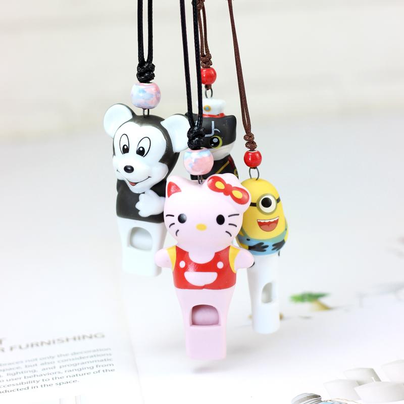 小猪佩奇卡通口哨儿童生日礼物幼儿园派对可吹响哨子陶瓷项链吊坠