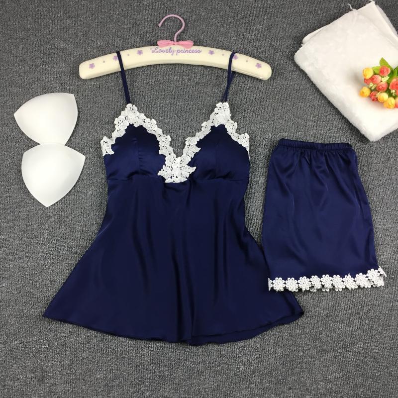 Pajama девушка летом сексуальная искушение льда ленты ремень шорты два кусок костюм размер груди площадку за тонкой одежда