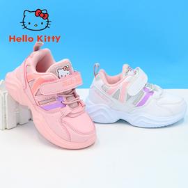 凯蒂猫童鞋女童运动鞋2019冬季二棉加绒技能鞋小女孩学步鞋小白鞋图片