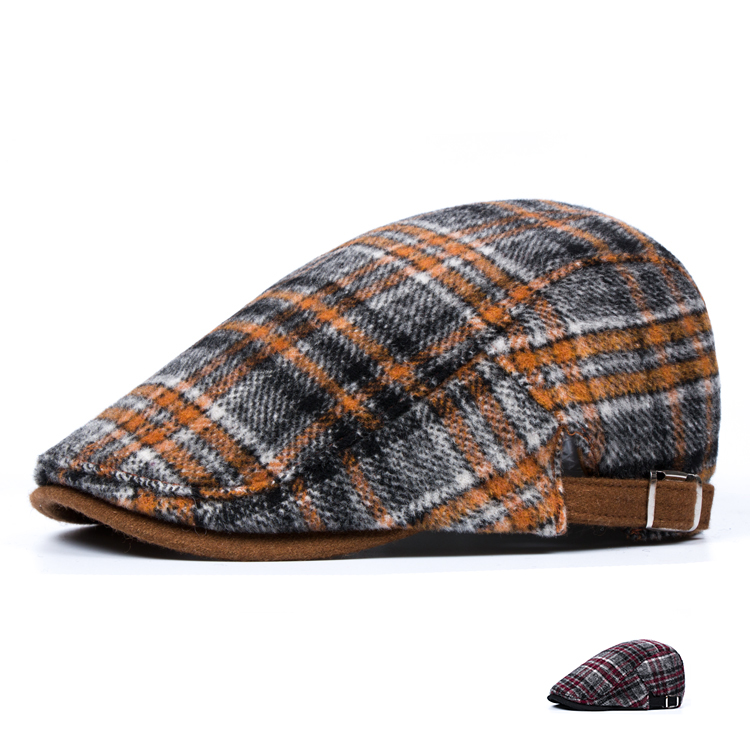 Autumn and winter woolen cloth soft and warm, outdoor fashion and leisure men and women retro Korean duck cap Beret