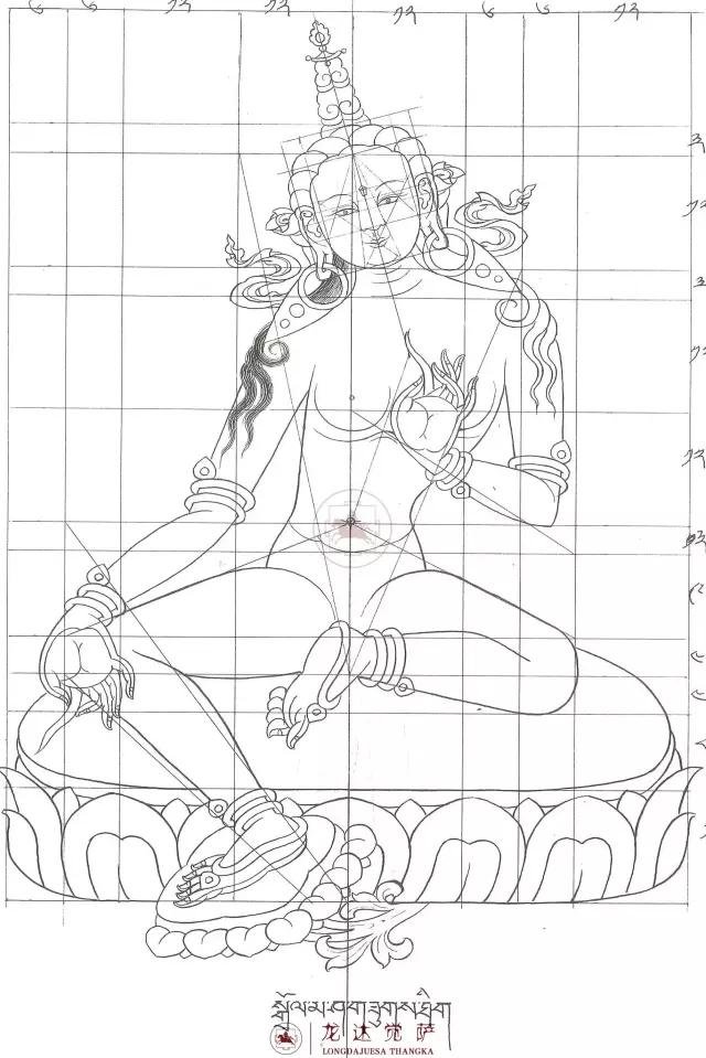 Три сырье ручная роспись будда искусство династия тан карта степень количество инжир 100 чжан электронная версия
