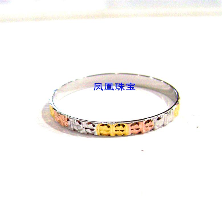 简约经典款闪亮S925纯银镀18K彩金戒指 3色彩银满天星戒指环9RFD