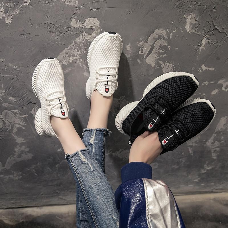MER&ZER/美着春夏韩版休闲运动网格潮鞋时尚百搭网红鞋原宿风女鞋