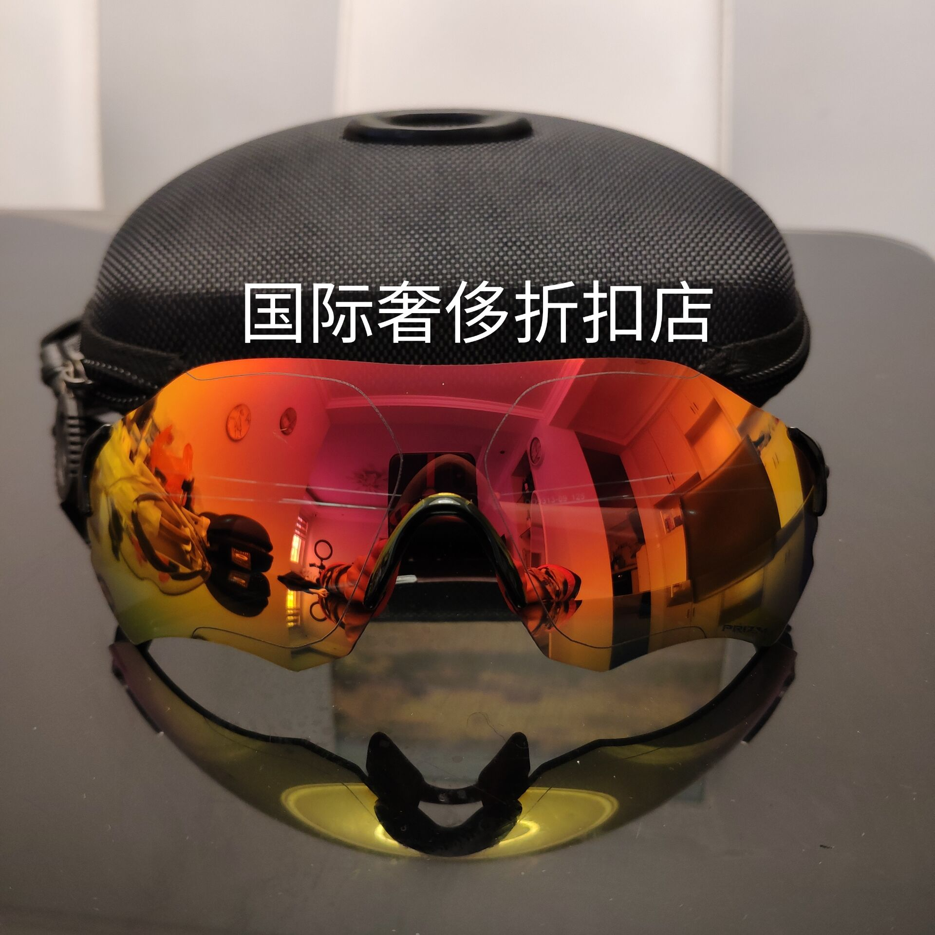 Oji mountain bike EV zero path polarized running riding light sports cover lens frameless Sunglasses large