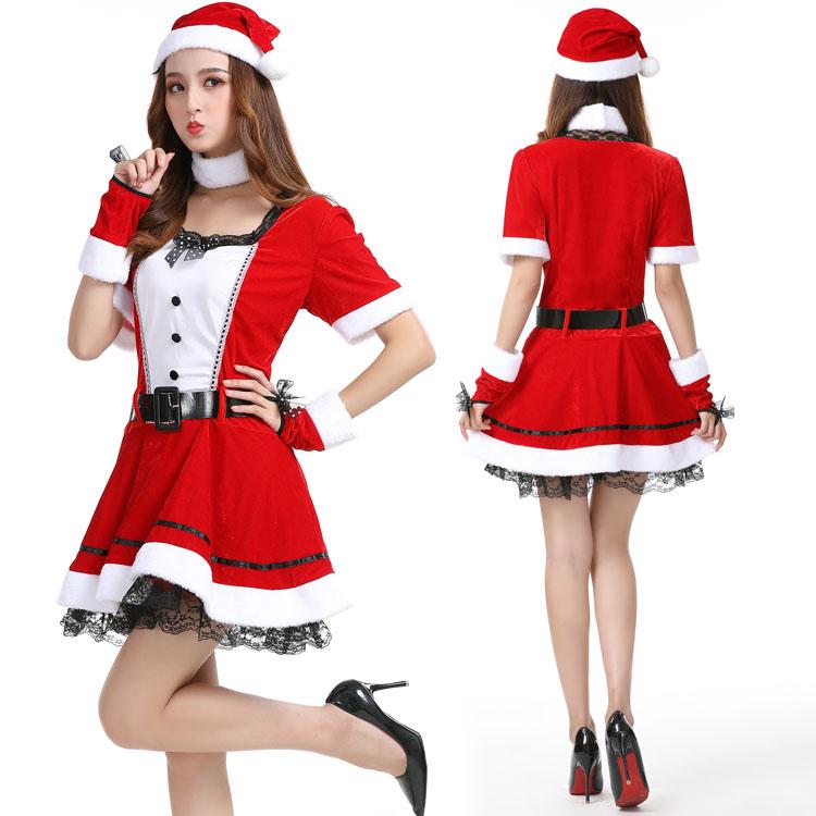圣诞节性感服装成人女圣诞舞会连衣裙角色扮演夜店酒吧DS演出服饰
