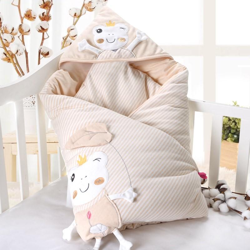 婴儿抱被纯棉花秋冬季加厚外出新生儿包被防惊跳襁褓初生宝宝用品母婴用品优惠券