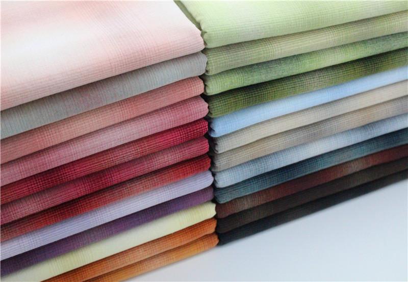 24色百搭实用大渐变 先染布纯棉 布 拼布 餐桌布窗帘沙发套布料券后9.50元