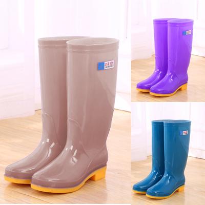 高筒雨鞋女士水鞋女雨靴长筒时尚防水鞋厨房防滑胶鞋工作套鞋