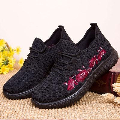 妇女鞋子40岁50妈妈中年人女鞋运动休闲女士北京布鞋女式中老年鞋