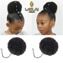 WEILAI Synthetic chignon Buns Boy Wig Hair Accessories Girl