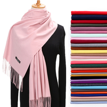 Women Winter Scarf 2020 Pure Cashmere Scarves Thick Neck War