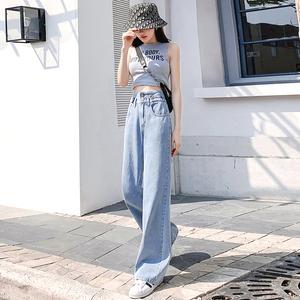 高腰显瘦宽松阔腿裤夏季新款牛仔裤