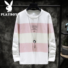 Playboy Men's Long Sleeve T-shirt Teenagers'Compassion with Pure Korean Couple Clothes Pure Cotton Men's Loose Trend