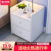 床头柜置物架简约现代仿实木小柜子储物柜简易卧室迷你收纳床边柜