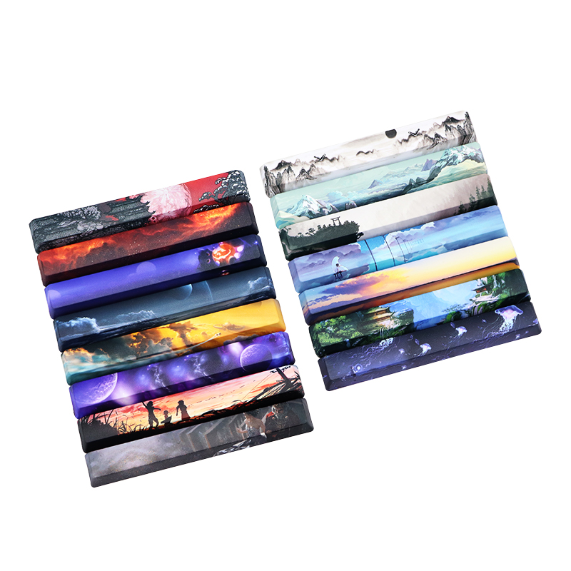 6.25u space bar five side thermal sublimation keycap OEM DIY mechanical keyboard keycap PBT personalized key cap