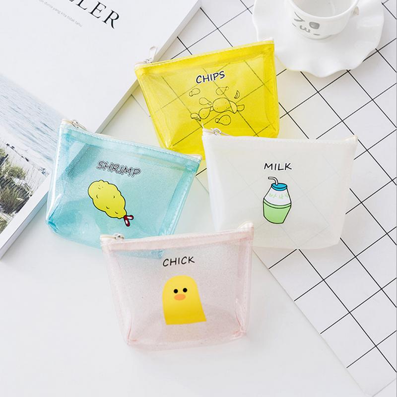 個性透明小錢包女韓版迷你零錢包卡通可愛硬幣包創意零錢包趣味包
