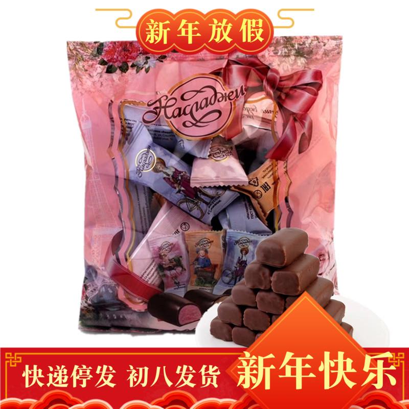 俄罗斯拉迈尔果味什锦巧克力糖果500g混合味休闲零食喜糖新年糖果