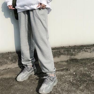 ICEREVERIE 国潮男女情侣潮牌束脚裤卫裤宽松长裤运动裤ICE裤子