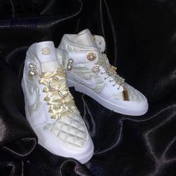 Air Jordan 1 Mid SE AJ1 白菱格纯白小香风中帮篮球鞋DB6078-100