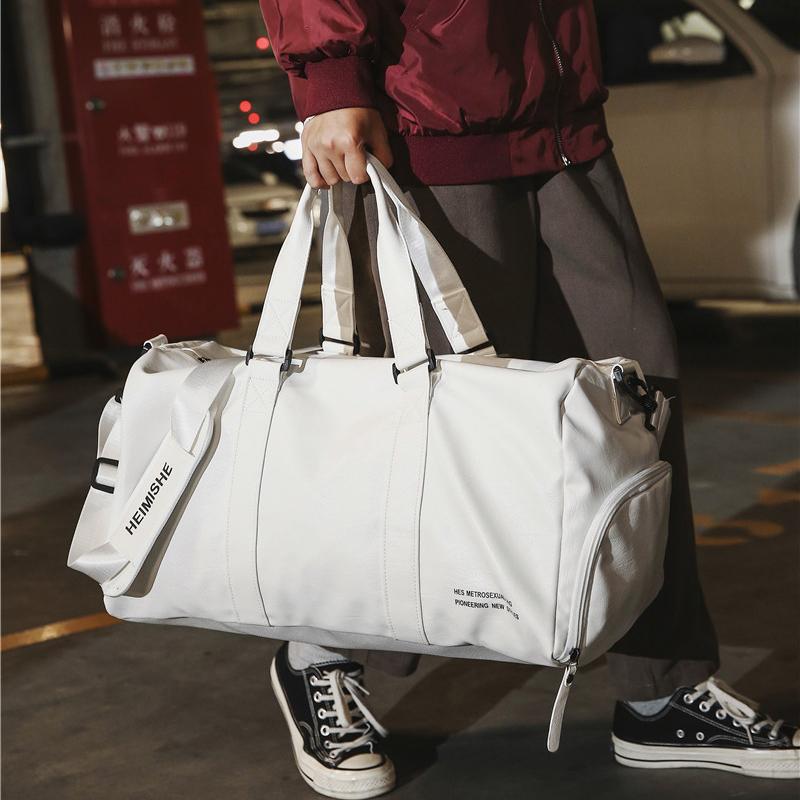 短途旅行包独立鞋位健身包女运动训练包男pu防水手提登机包行李袋 Изображение 1