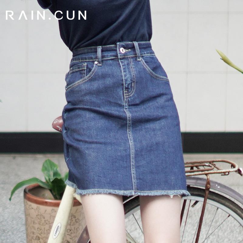 2019新款夏季a字款型高腰牛仔裙139.00元包邮