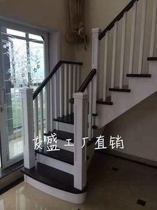 实木楼梯别墅楼梯护栏栏杆跃层楼梯