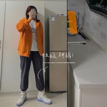 喵胖张桶桶 运动裤女2020春季新款大码胖mm宽松显瘦棉束脚休闲裤