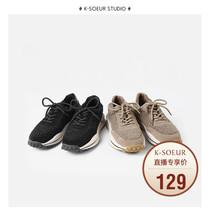 K姐两色选韩版保暖舒适透气气质时尚账动鞋女羊羔绒拼接休闲鞋