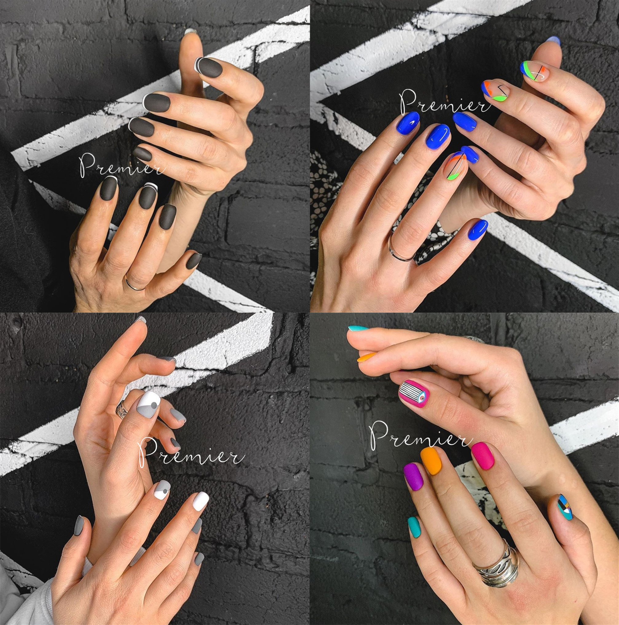 Premier Europe and the United States style short lasting hand-made wear manicure finished disassembly full hand-painted geometric suit