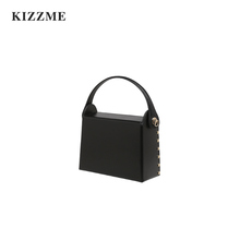 KIZZMEINS Wind-cowhide Cigarette Box, Rivet Handbag, Single Shoulder Slanting Bag, Multi-purpose Autumn New Women's Bag