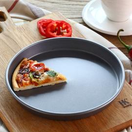 披萨盘烤盘家用6/8/9/10寸圆形饼底不沾蛋糕模具烤箱烘焙工具套装