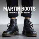马丁靴男中帮工装 潮鞋 靴子高帮英伦风男鞋 加绒雪地靴黑色皮靴 冬季